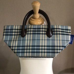 Burberry Blue Label Navy/Beige Plaid Mini Bag